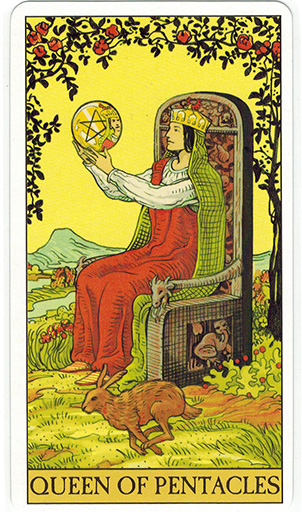 Lá Queen of Pentacles - After Tarot 1