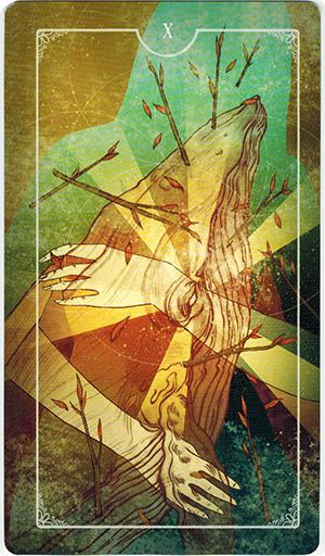 Ý nghĩa lá X Wands trong bộ bài Ostara Tarot