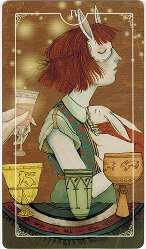 Ý nghĩa lá IV Cups trong bộ bài Ostara Tarot