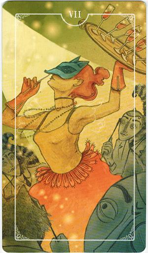 Ý nghĩa lá VII Cups trong bộ bài Ostara Tarot
