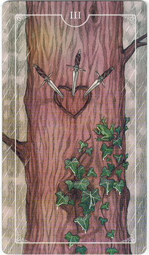 Ý nghĩa lá III Swords trong bộ bài Ostara Tarot