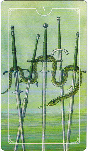 Ý nghĩa lá V Swords trong bộ bài Ostara Tarot