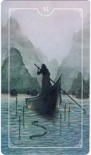 Ý nghĩa lá VI Swords trong bộ bài Ostara Tarot