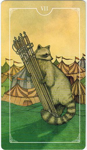 Ý nghĩa lá VII Swords trong bộ bài Ostara Tarot
