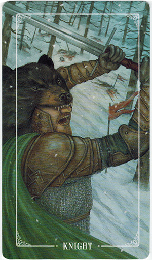 Ý nghĩa lá Knight of Swords trong bộ bài Ostara Tarot