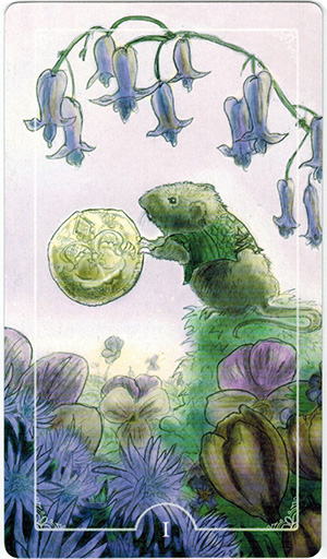 Ý nghĩa lá I Coins trong bộ bài Ostara Tarot