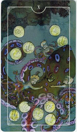 Ý nghĩa lá X Coins trong bộ bài Ostara Tarot