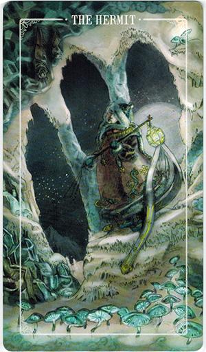 Ý nghĩa lá The Hermit trong bộ bài Ostara Tarot