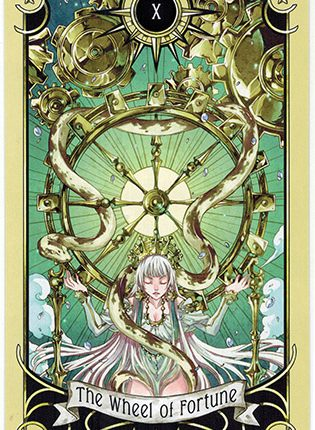 Lá The Wheel of Fortune – Mystical Manga Tarot