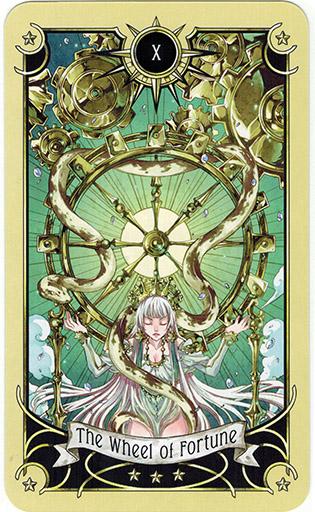 Ý nghĩa lá The Wheel of Fortune trong bộ bài Mystical Manga Tarot