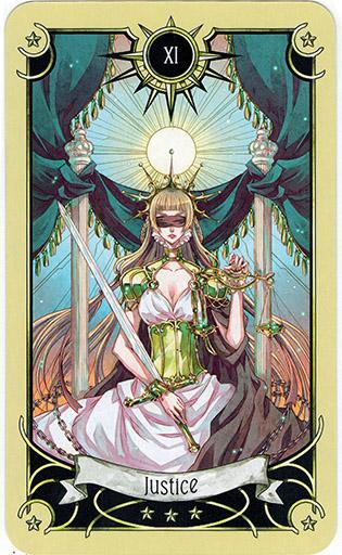 Ý nghĩa lá Justice trong bộ bài Mystical Manga Tarot