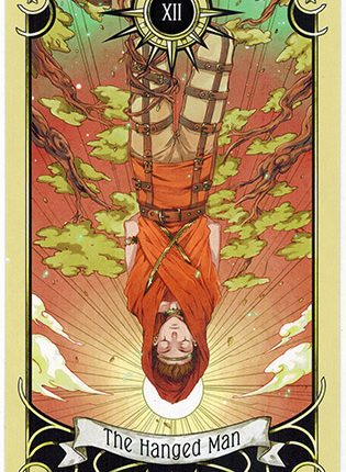 Lá The Hanged Man – Mystical Manga Tarot
