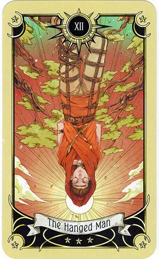 Ý nghĩa lá The Hanged Man trong bộ bài Mystical Manga Tarot
