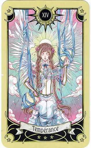 Ý nghĩa lá Temperance trong bộ bài Mystical Manga Tarot