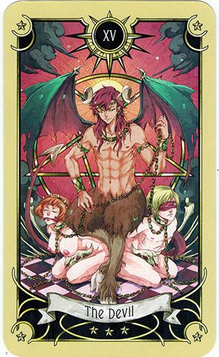 Ý nghĩa lá The Devil trong bộ bài Mystical Manga Tarot