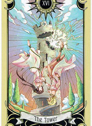 Lá The Tower – Mystical Manga Tarot
