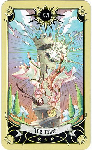 Ý nghĩa lá The Tower trong bộ bài Mystical Manga Tarot