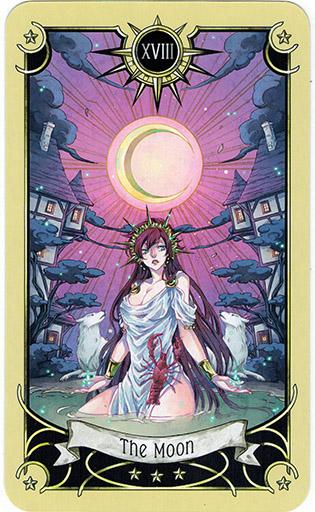Ý nghĩa lá The Moon trong bộ bài Mystical Manga Tarot