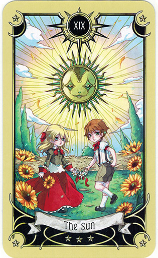 Ý nghĩa lá The Sun trong bộ bài Mystical Manga Tarot