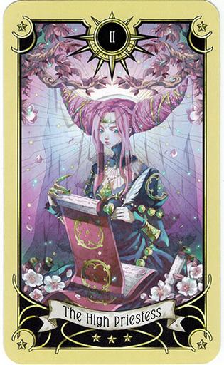 Ý nghĩa lá The High Priestess trong bộ bài Mystical Manga Tarot