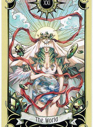 Lá The World – Mystical Manga Tarot