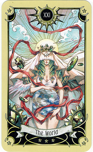 Ý nghĩa lá The World trong bộ bài Mystical Manga Tarot