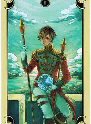Lá Two of Wands – Mystical Manga Tarot