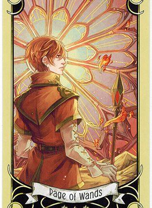 Lá Page of Wands – Mystical Manga Tarot