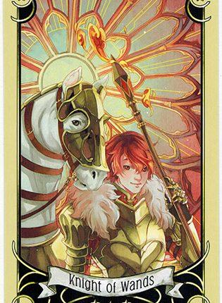 Lá Knight of Wands – Mystical Manga Tarot