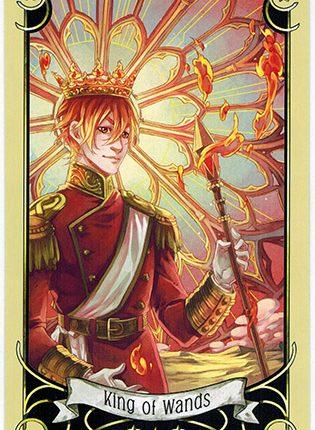 Lá King of Wands – Mystical Manga Tarot