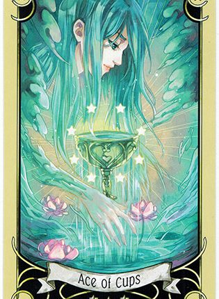 Lá Ace of Cups – Mystical Manga Tarot