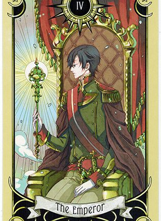 Lá The Emperor – Mystical Manga Tarot