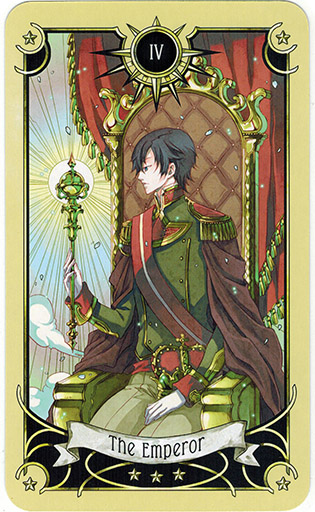 Ý nghĩa lá The Emperor trong bộ bài Mystical Manga Tarot