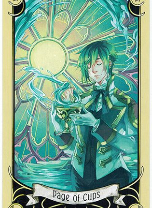 Lá Page of Cups – Mystical Manga Tarot
