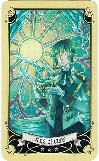 Ý nghĩa lá Page of Cups trong bộ bài Mystical Manga Tarot