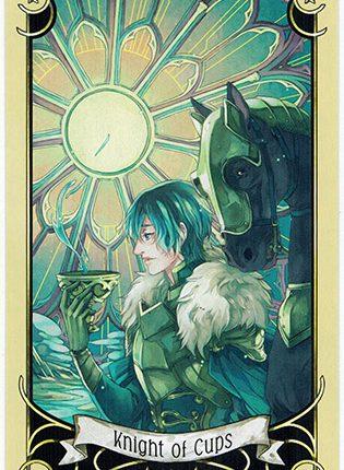 Lá Knight of Cups – Mystical Manga Tarot
