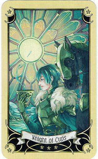 Ý nghĩa lá Knight of Cups trong bộ bài Mystical Manga Tarot