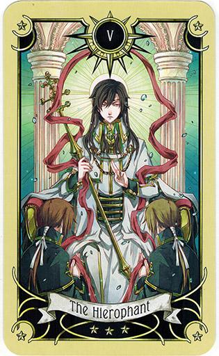 Ý nghĩa lá The Hierophant trong bộ bài Mystical Manga Tarot