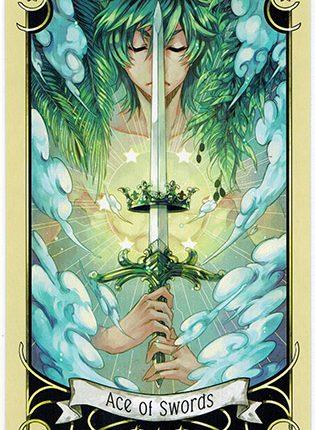 Lá Ace of Swords – Mystical Manga Tarot