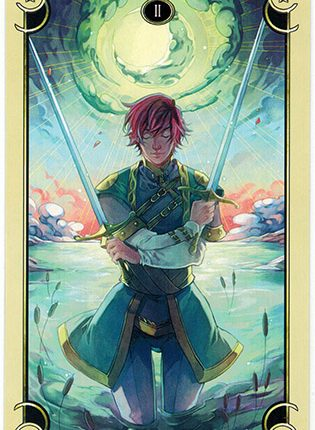 Lá Two of Swords – Mystical Manga Tarot