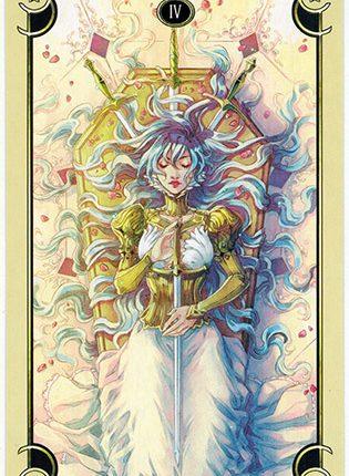 Lá Four of Swords – Mystical Manga Tarot