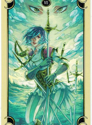 Lá Seven of Swords – Mystical Manga Tarot