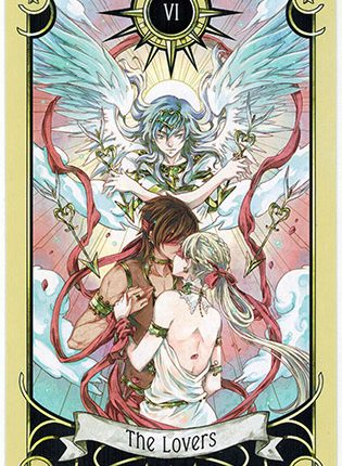 Lá The Lovers – Mystical Manga Tarot