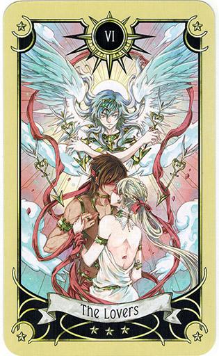Ý nghĩa lá The Lovers trong bộ bài Mystical Manga Tarot