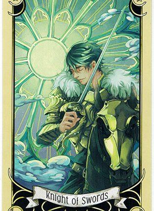 Lá Knight of Swords – Mystical Manga Tarot