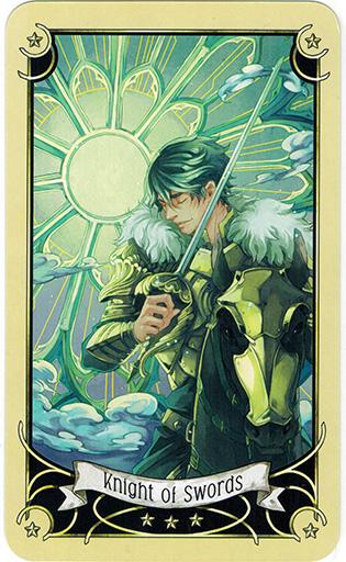 Ý nghĩa lá Knight of Swords trong bộ bài Mystical Manga Tarot