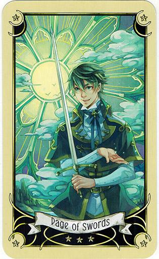 Ý nghĩa lá Page of Swords trong bộ bài Mystical Manga Tarot