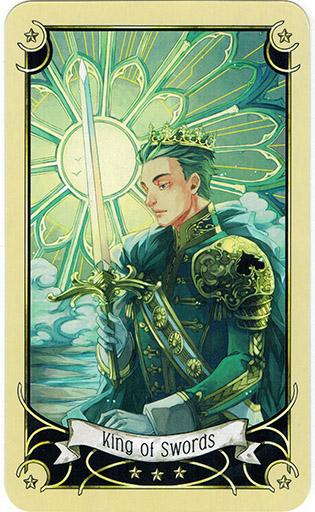 Ý nghĩa lá King of Swords trong bộ bài Mystical Manga Tarot