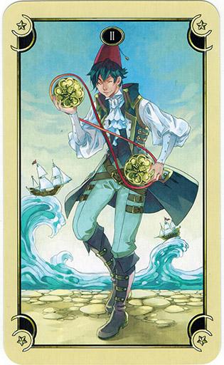 Ý nghĩa lá Two of Coins trong bộ bài Mystical Manga Tarot