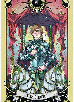 Lá The Chariot – Mystical Manga Tarot